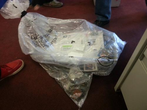 Magic cards delivered via USPS garbage bag