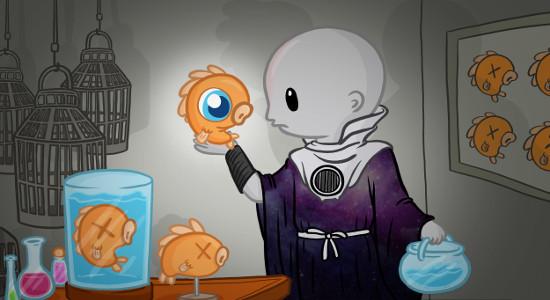 Image for Fishy Secrets Halloween Playmat