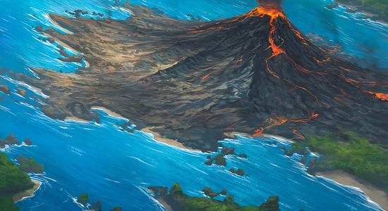 Volcanic island by noahbradley d4xfdke