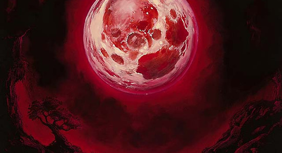 Blood moon art
