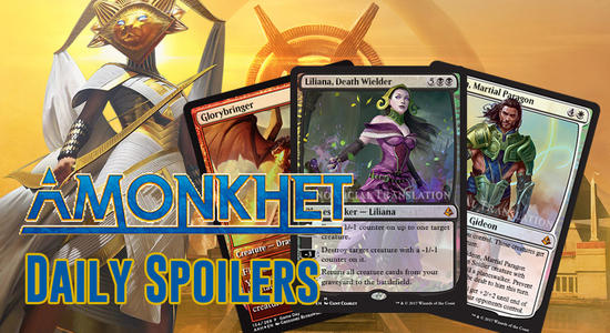 Image for Amonkhet Spoilers 3/27 — Promo Cards, Mechanics