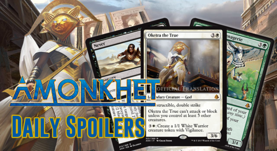 Image for Amonkhet Daily Spoilers — April 10, 2017 | Oketra the True