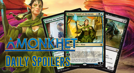 Image for Amonkhet Daily Spoilers — April 11, 2017 | X-Costed Nissa, Best God Rhonas, Zombies!