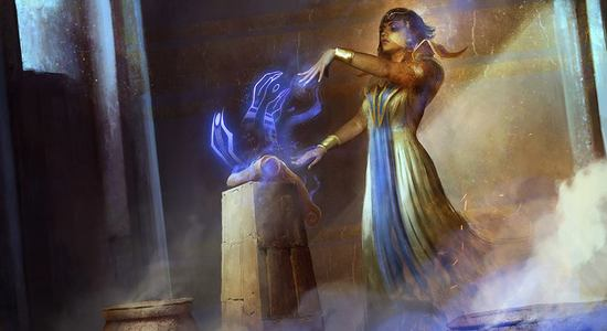Scribe of the mindful amonkhet mtg art