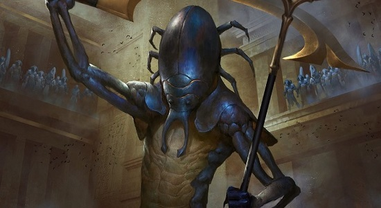 The scarab god hour of devastation mtg art