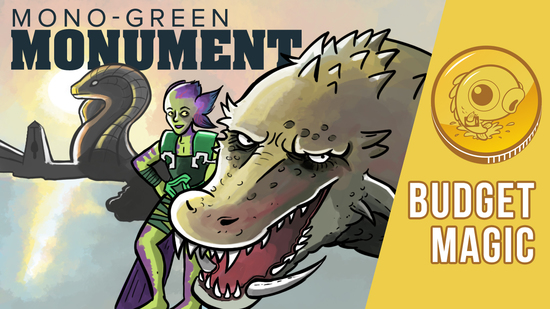 Image for Budget Magic: $87 (36 tix) Mono-Green Monument (Standard)