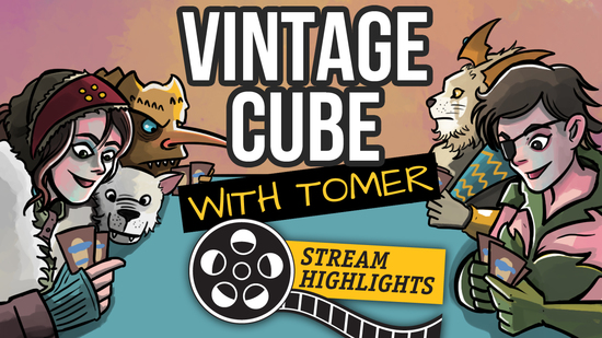 Vintage cube with tomer highlights