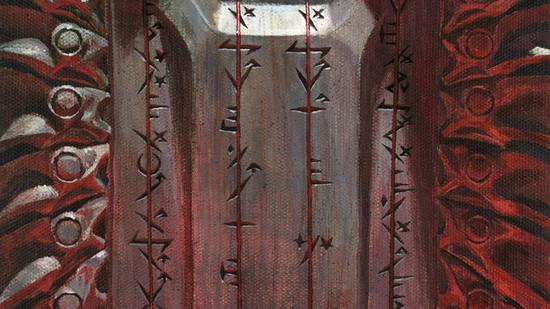 Phyrexian scriptures mtg art