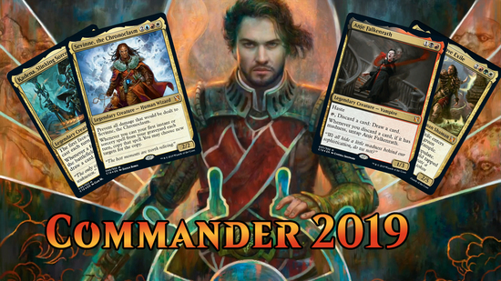 preview image for Commander 2019 Spoilers — August 1, 2019 | The Four Commanders