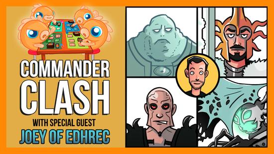 preview image for Commander Clash S8 E5: Companion Week w/ Joseph Schultz (EDHREC) | Keruga vs. Lurrus vs. Obosh vs. Zirda