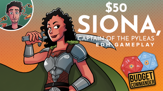 Image for Stomping With $50 Siona, Captain of the Pyleas | Commander Abridged Gameplay