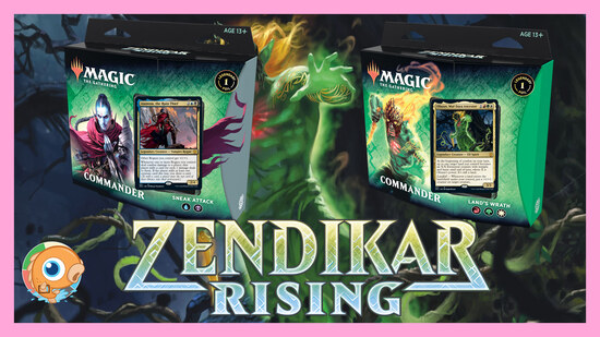 Image for New Zendikar Rising Commander Precon Decklist Reveal & Initial Thoughts | Land's Wrath | Sneak Attack