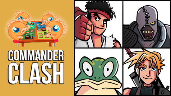 Image for Commander Clash S9 E11: Video Game Week | Street Fighter vs. Resident Evil vs. FF7 vs. Frogger