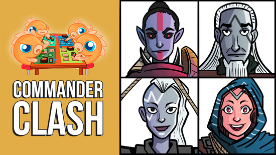 Image for Commander Clash S9 E12: Party Brawl | Akiri vs. Anowon vs. Kaza vs. Orah