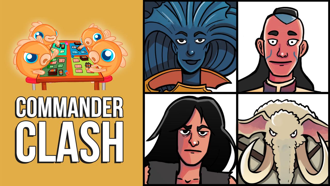Image for Commander Clash S9 E21: Popular Commander Legends | Araumi vs. Ghen vs. Hamza vs. Jared
