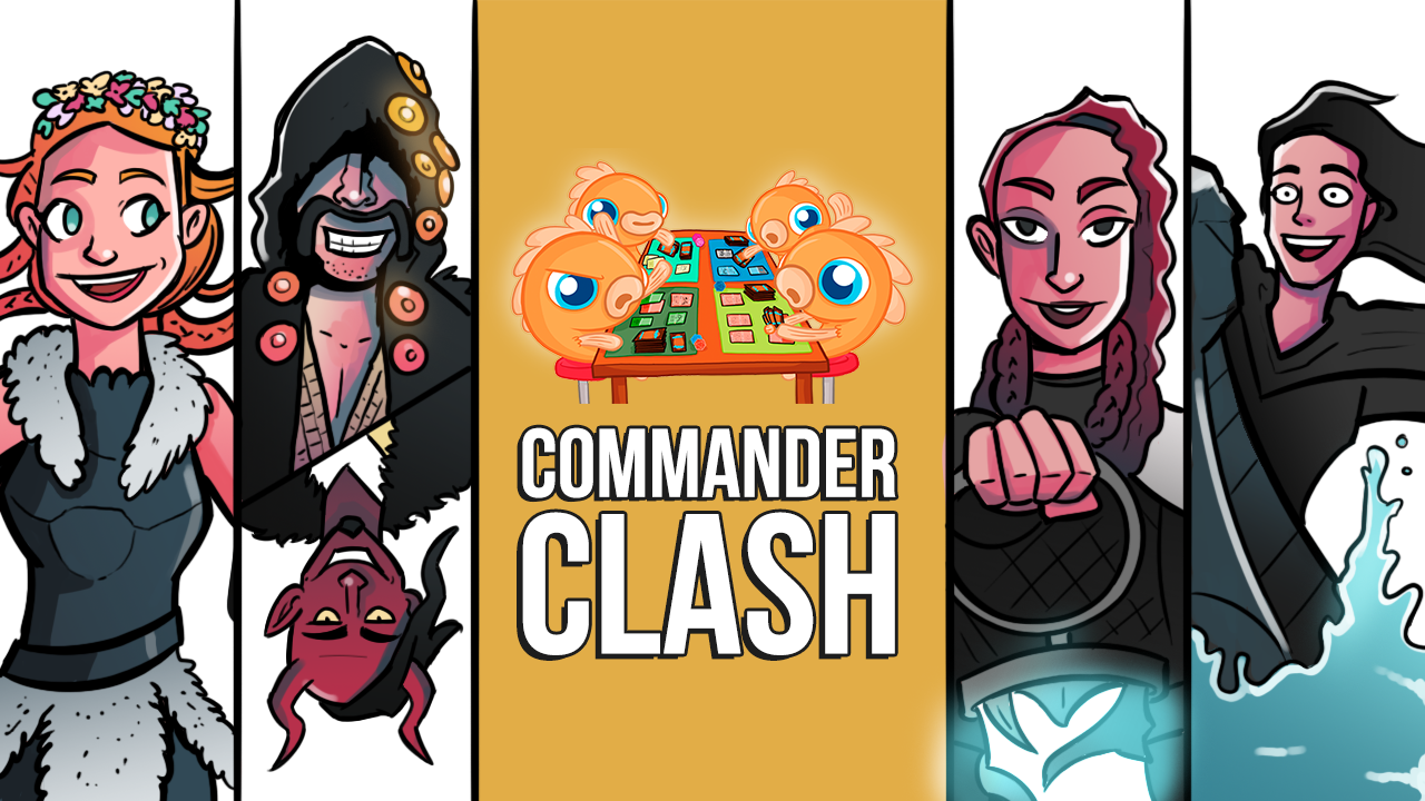 Image for Commander Clash S10 E1: Gods of Kaldheim | Cosima vs. Esika vs. Tergrid vs. Valki