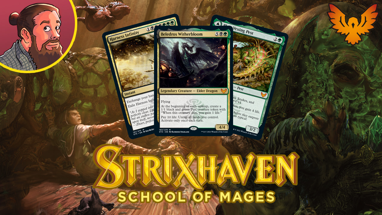 Image for Strixhaven: School of Mages Spoilers — April 2   Witherbloom Elder Dragon, Pest Lord