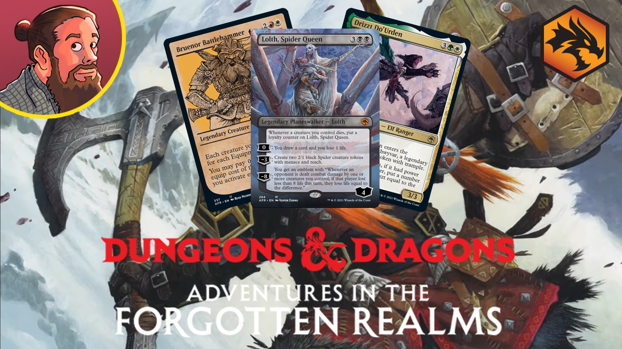Image for Adventures in the Forgotten Realms Spoilers — May 20 | Lolth, Drizzt, Bruenor
