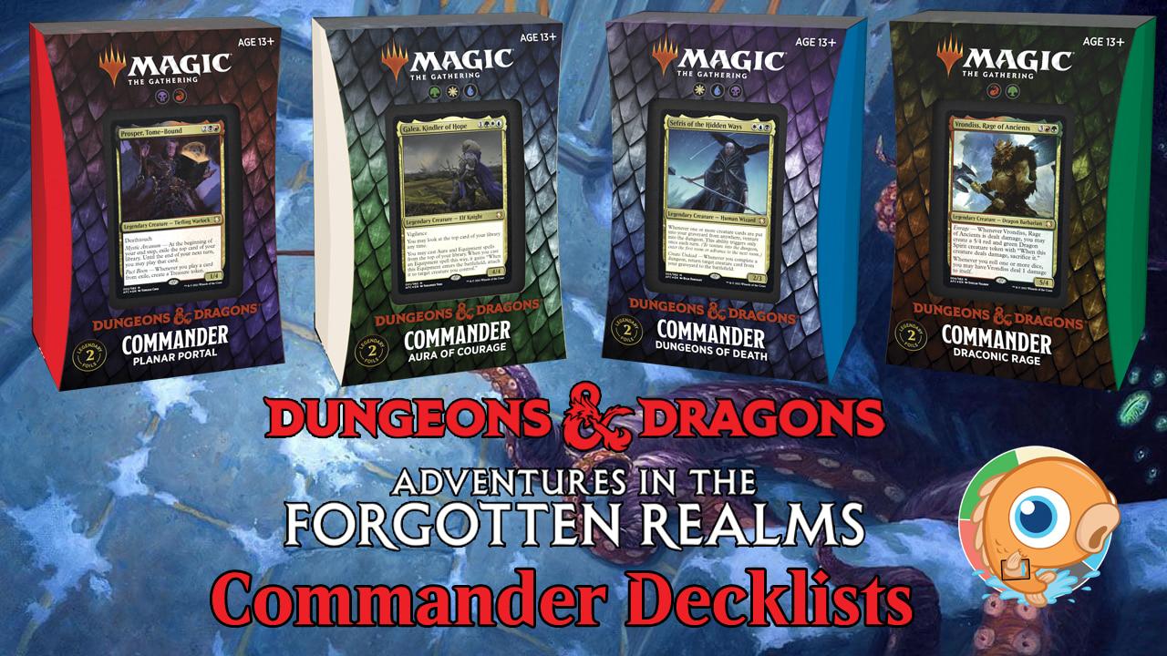 Image for Adventures in the Forgotten Realms Commander Precon Decklists