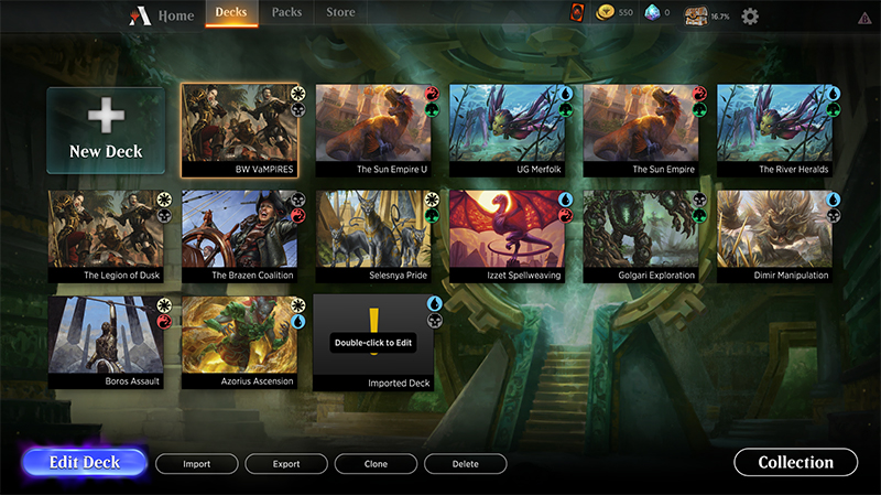 Magic arena import instructions import imported%20deck