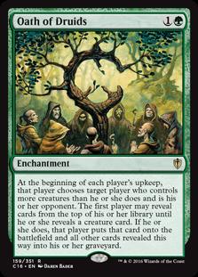 Oath of Druids, Commander 2016