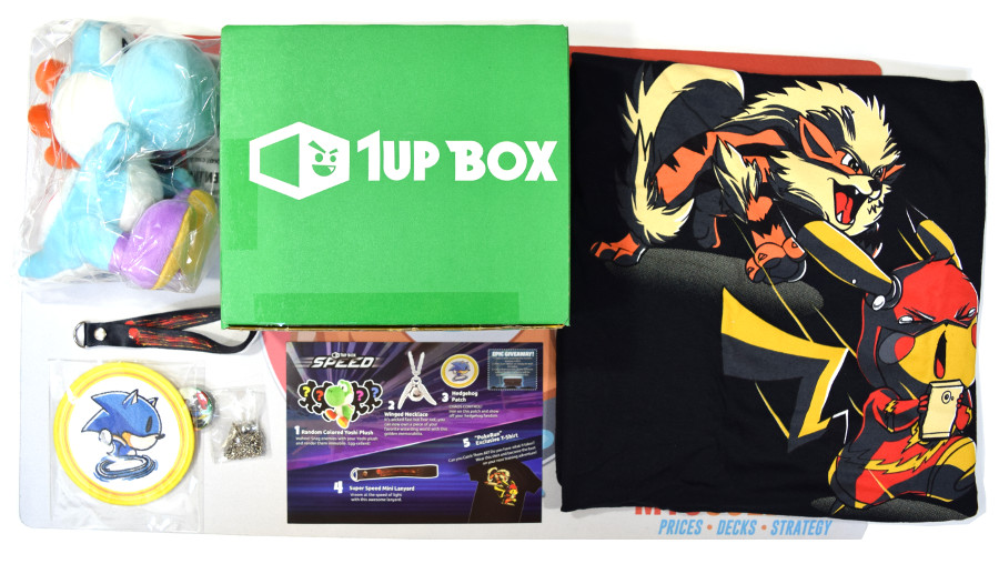1Up Box Sample Box (August, Speed-themed)