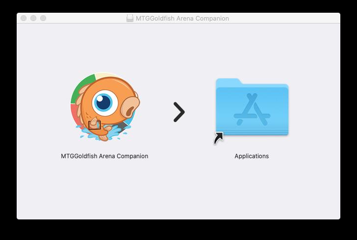 MTGGoldfish Arena Companion MacOS Install