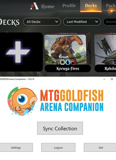 MTGGoldfish Arena Companion App Screenshot