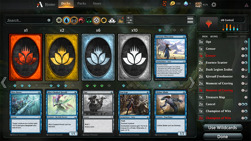 Export Deck to Magic: the Gathering Arena