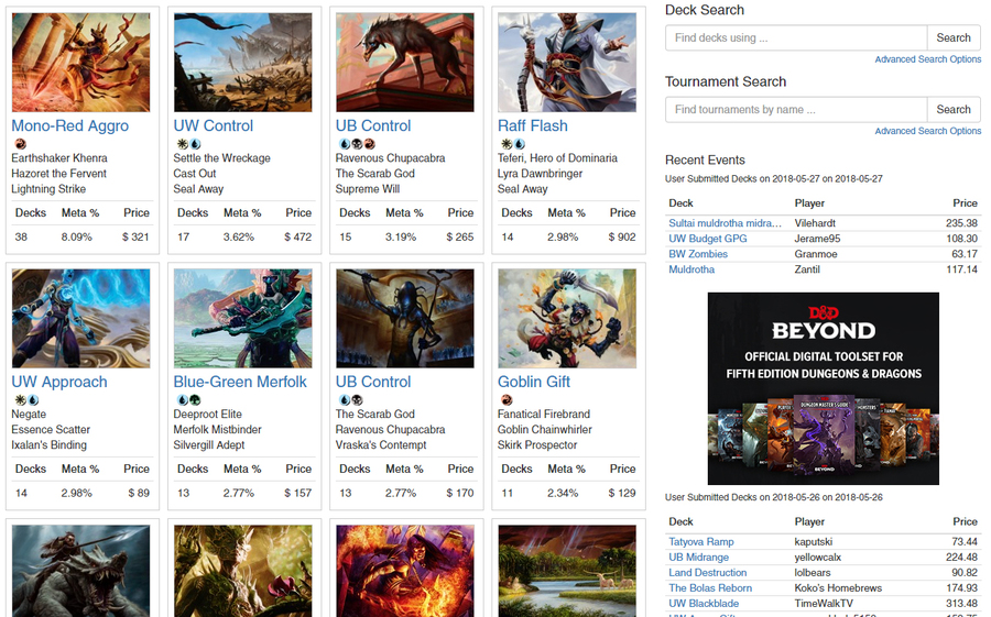 Magic Arena Metagame, Collection, and Superbrew